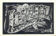 LLT200498 - Lizzie, USA Large Letter Town Postcard Post Card Old Vintage Antique