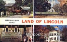 LLT200502 - Springfield, IL, USA Large Letter Town Postcard Post Card Old Vintage Antique