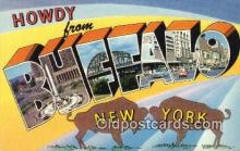 LLT200507 - Buffalo, New York, USA Large Letter Town Postcard Post Card Old Vintage Antique