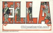 LLT200508 - Ella, USA Large Letter Town Postcard Post Card Old Vintage Antique