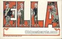 LLT200509 - Ella, USA Large Letter Town Postcard Post Card Old Vintage Antique