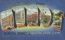 LLT200515 - Minot, North Dakota, USA Large Letter Town Postcard Post Card Old Vintage Antique