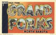 LLT200516 - Grand Forks, North Dakota, USA Large Letter Town Postcard Post Card Old Vintage Antique