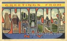 LLT200519 - Syracuse, NY, USA Large Letter Town Postcard Post Card Old Vintage Antique