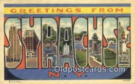LLT200519 - Syracuse, NY, USA Large Letter Town Postcard Post Card Old Vintage Antique