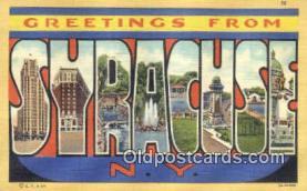 LLT200520 - Syracuse, NY, USA Large Letter Town Postcard Post Card Old Vintage Antique