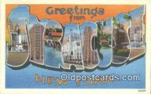 LLT200521 - Syracuse, NY, USA Large Letter Town Postcard Post Card Old Vintage Antique