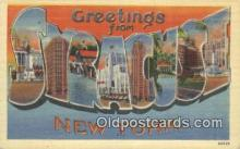 LLT200522 - Syracuse, NY, USA Large Letter Town Postcard Post Card Old Vintage Antique