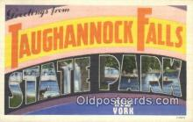 LLT200524 - Taughannolk Falls State Park, New York, USA Large Letter Town Postcard Post Card Old Vintage Antique