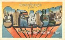 LLT200525 - Syracuse, NY, USA Large Letter Town Postcard Post Card Old Vintage Antique