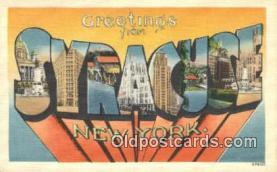 LLT200525 - Syracuse, NY, USA Large Letter Town Postcard Post Card Old Vintage Antique