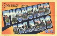 LLT200528 - Thousand Islands, NY, USA Large Letter Town Postcard Post Card Old Vintage Antique