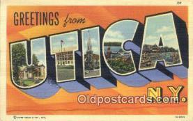 LLT200530 - Utica, New York, USA Large Letter Town Postcard Post Card Old Vintage Antique