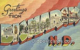 Bismarck, North Dakota, USA Postcard Post Card