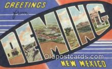 Deming, New Mexico, USA Postcard Post Card