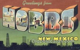 Hobbs, New Mexico, USA Postcard Post Card