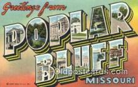 LLT200537 - Poplar Bluff, Missouri, USA Large Letter Town Postcard Post Card Old Vintage Antique