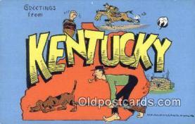 LLT200539 - Kentucky, USA Large Letter Town Postcard Post Card Old Vintage Antique