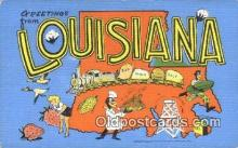 LLT200540 - Louisiana, USA Large Letter Town Postcard Post Card Old Vintage Antique