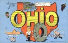 LLT200551 - Ohio, USA Large Letter Town Postcard Post Card Old Vintage Antique