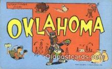 LLT200552 - Oklahoma, USA Large Letter Town Postcard Post Card Old Vintage Antique