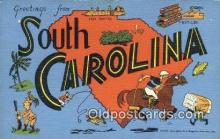 South Carolina, USA Postcard Post Card