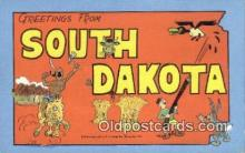 South Dakota, USA Postcard Post Card