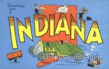 LLT200559 - Indiana, USA Large Letter Town Postcard Post Card Old Vintage Antique
