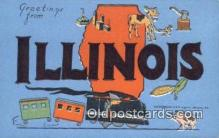 LLT200560 - Illinois, USA Large Letter Town Postcard Post Card Old Vintage Antique
