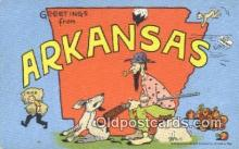 LLT200571 - Arkansas, USA Large Letter Town Postcard Post Card Old Vintage Antique