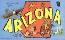 LLT200572 - Arizona, USA Large Letter Town Postcard Post Card Old Vintage Antique