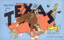 LLT200575 - Texas, USA Large Letter Town Postcard Post Card Old Vintage Antique