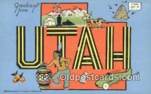 LLT200576 - Utah, USA Large Letter Town Postcard Post Card Old Vintage Antique