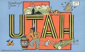 LLT200576 - Utah, USA Large Letter Town Postcard Post Card Old Vintage Antique
