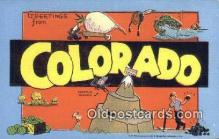 LLT200582 - Colorado, USA Large Letter Town Postcard Post Card Old Vintage Antique
