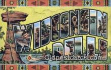 LLT200592 - Wisconsin Dells, USA Large Letter Town Postcard Post Card Old Vintage Antique