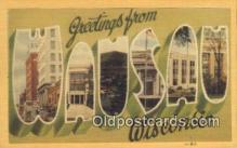 LLT200594 - Wausau, Wisconsin, USA Large Letter Town Postcard Post Card Old Vintage Antique