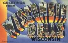 LLT200599 - Wisconsin Dells, USA Large Letter Town Postcard Post Card Old Vintage Antique
