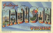 Madison, Wisconsin, USA Postcard Post Card