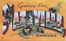 LLT200610 - Nashville, TN, USA Large Letter Town Postcard Post Card Old Vintage Antique