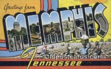 LLT200616 - Memphis, Tennessee, USA Large Letter Town Postcard Post Card Old Vintage Antique
