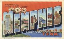LLT200617 - Memphis, Tennessee, USA Large Letter Town Postcard Post Card Old Vintage Antique