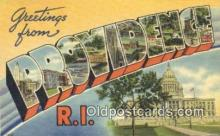 LLT200625 - Providence, Rhode Island, USA Large Letter Town Postcard Post Card Old Vintage Antique