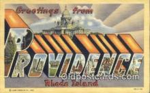 LLT200627 - Providence, Rhode Island, USA Large Letter Town Postcard Post Card Old Vintage Antique