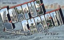 LLT200633 - Corpus Christi, Texas, USA Large Letter Town Postcard Post Card Old Vintage Antique