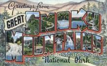 LLT200638 - Smoky Mountains, TN, USA Large Letter Town Postcard Post Card Old Vintage Antique