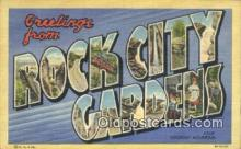 LLT200641 - Rock City Gardens, TN, USA Large Letter Town Postcard Post Card Old Vintage Antique