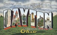 LLT200650 - Dayton, Ohio, USA Large Letter Town Postcard Post Card Old Vintage Antique