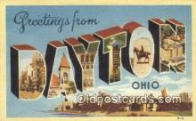 LLT200651 - Dayton, Ohio, USA Large Letter Town Postcard Post Card Old Vintage Antique