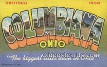 LLT200657 - Columbus, Ohio, USA Large Letter Town Postcard Post Card Old Vintage Antique